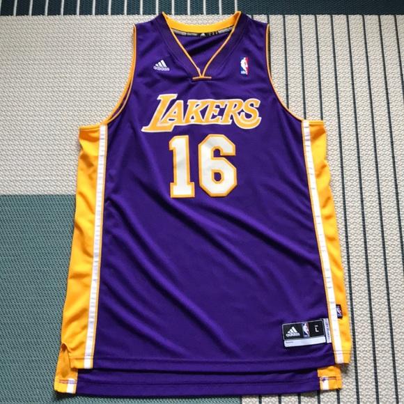 Lakers Purple Pau Gasol Adidas Swingman Jersey